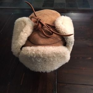 Sheepskin Lined Winter Cap